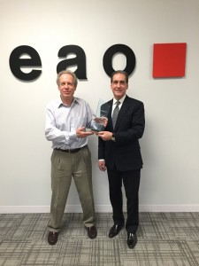 (From left) Gray Perrin, regional sales manager, EAO Corporation; Lance A. Scott, president, EAO Corporation